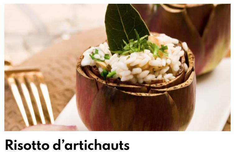 Risotto artichauts