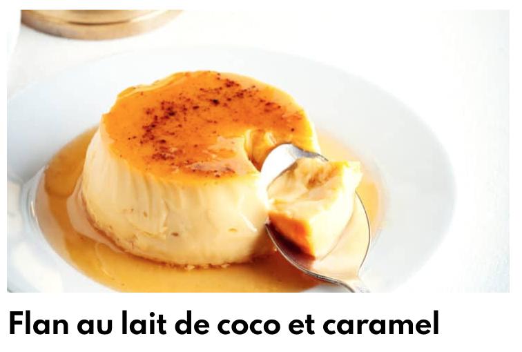 Flan au lait de coco et caramel