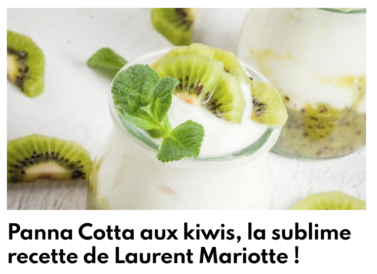 Panna cotta aux kiwis