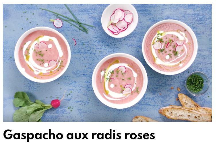 Gaspacho radis rose