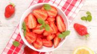 Salade de fraises menthe citron