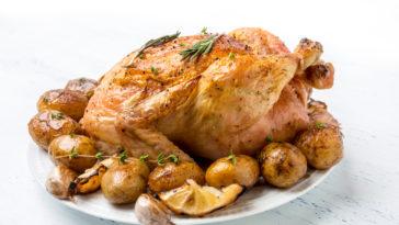 poulet rôti au citron confit