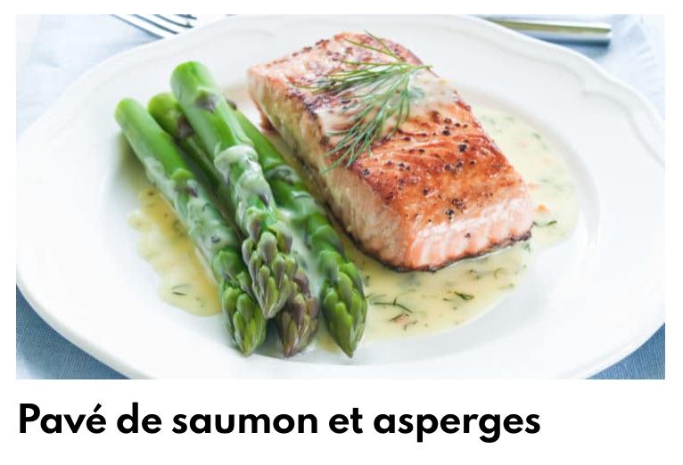Pave saumon et asperges