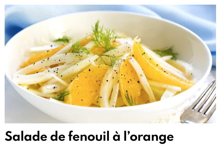 Salade fenouil à l'orange
