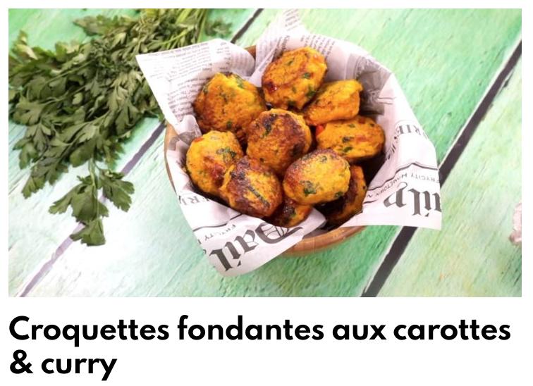Croquettes fondantes aux carottes