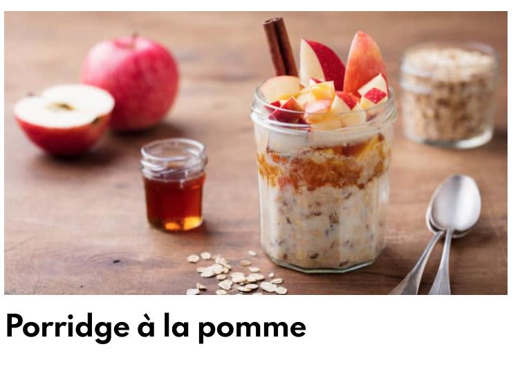 Porridge pomme