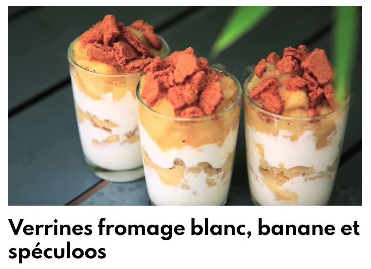 Verrines fromage blanc, banane et spéculoos
