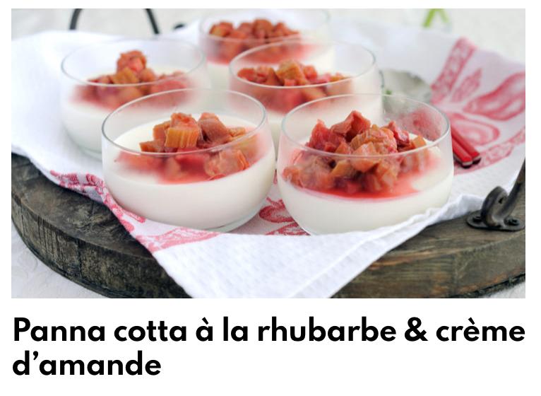 Panna cotta rhubarbe
