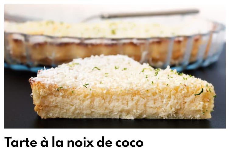Tarte noix de coco