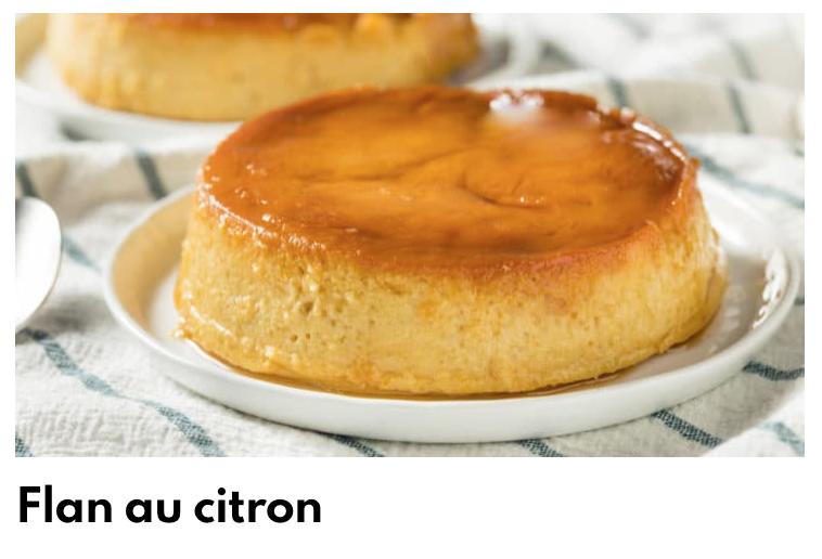 Flan citron