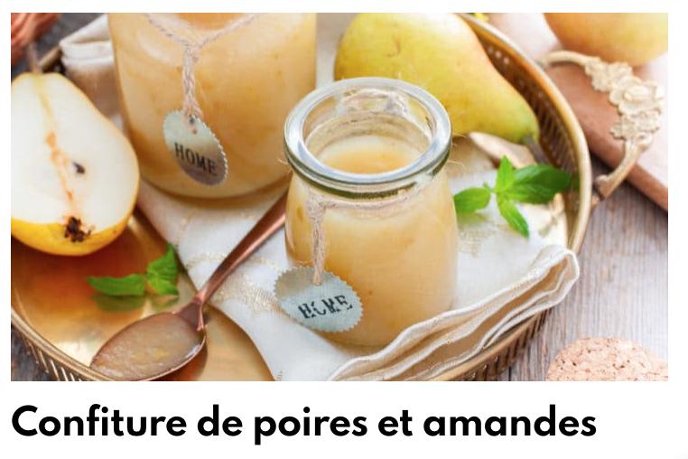 Confiture poire amandes