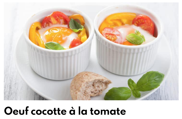 Oeuf cocotte à la tomate