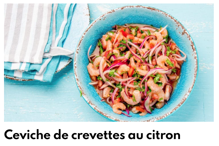 Ceviche crevettes citron