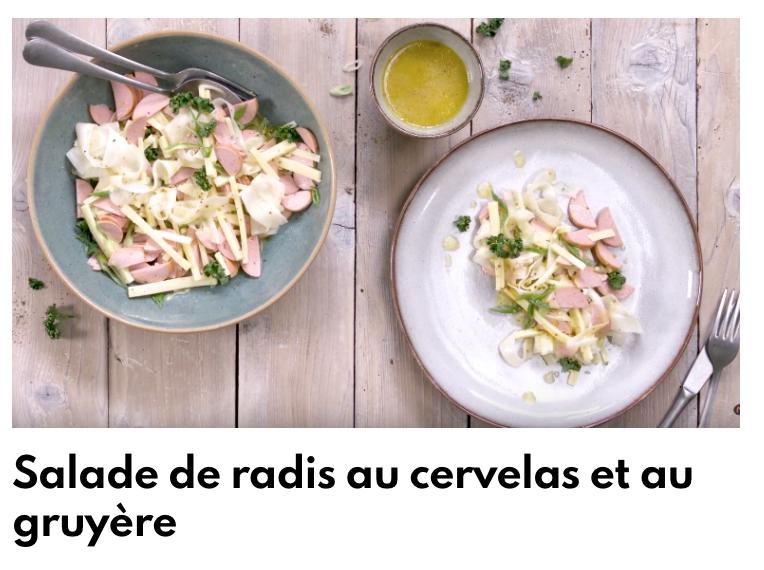 Salade de radis et cervelas