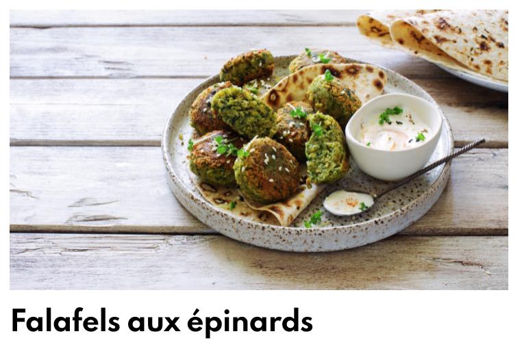Falafels épinards