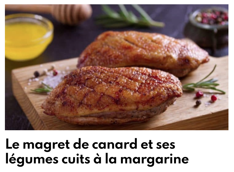 Magret de canard et ses légumes cuits