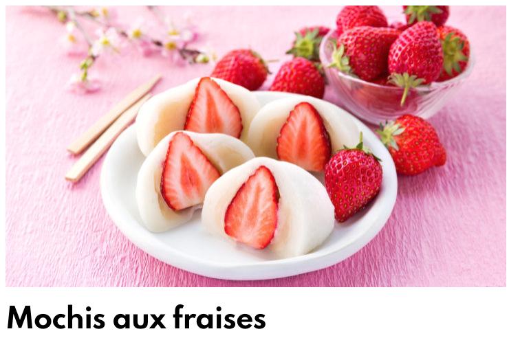 Mochi fraises