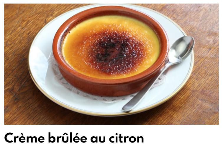 Creme brulée citron
