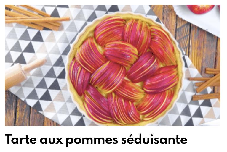 Tarte aux pommes séduisantes