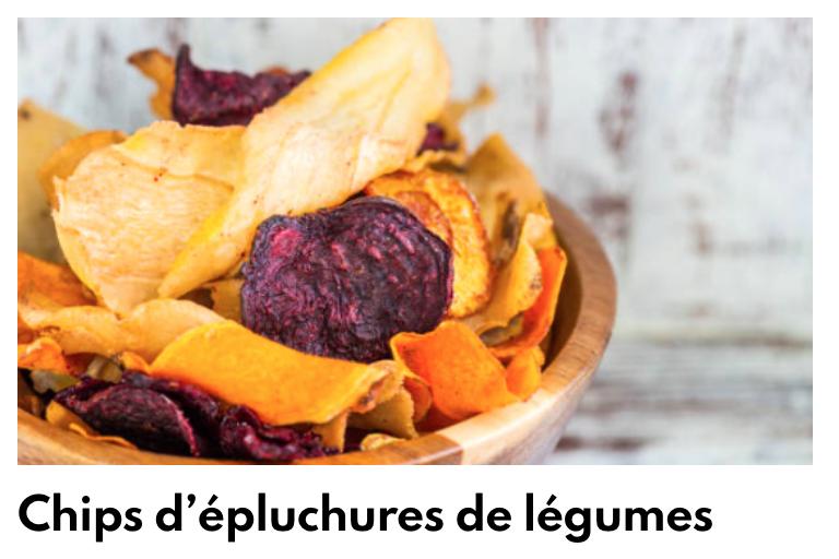 Chips d'épluchure de légumes