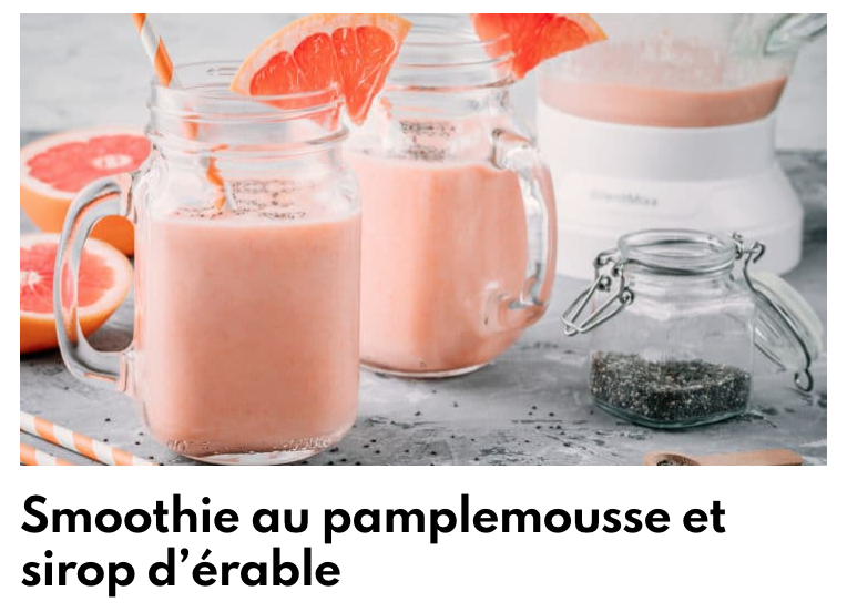 Smoothie pamplemousse