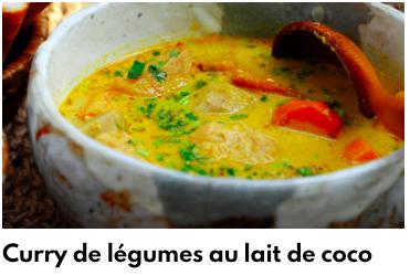 curry de légume lait de coco