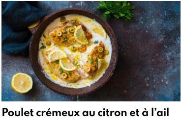 poulet crémeux au citron