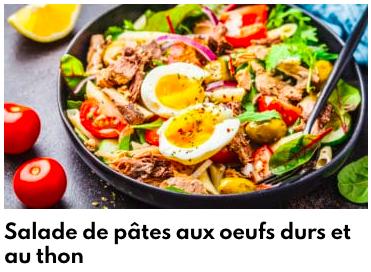 salade de pates aux oeufs durs