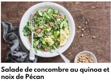 salade de concombre au cuinoa