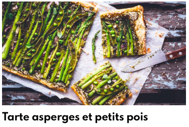 tarte asperge petits pois