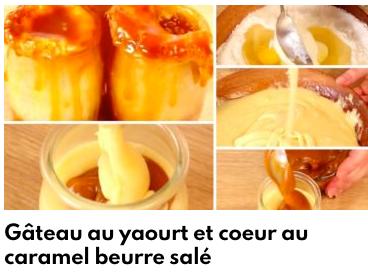 gâteau yaourt caramel beurre salé