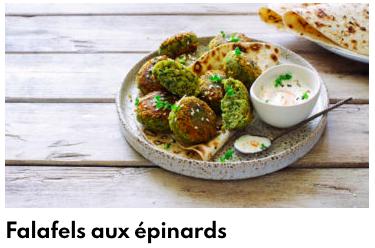 falafels épinard