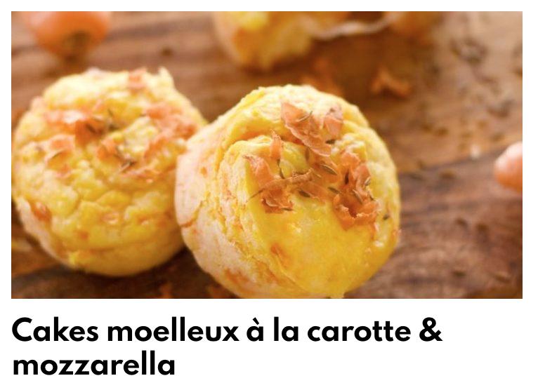 Cake moelleux carottes mozza