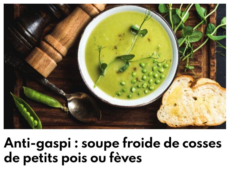 Soupe de petits pois ou de fèves