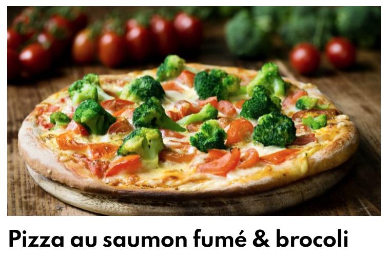 Pizza saumon brocolis