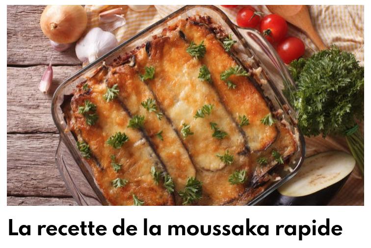 Moussaka rapide