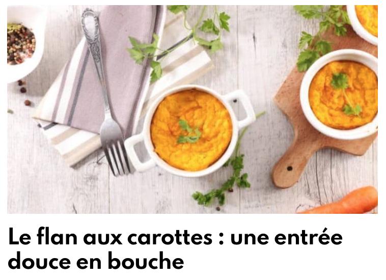 Flan aux carottes