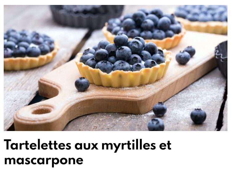 Tartelettes myrtilles et mascarpone