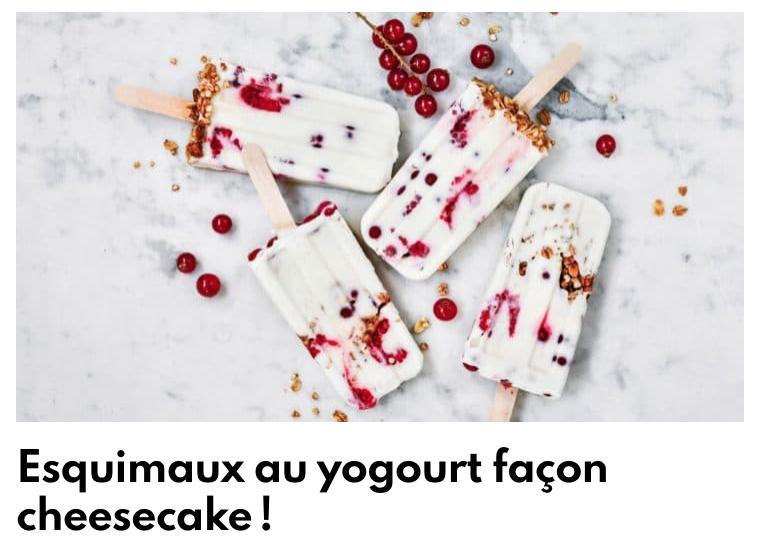 Esquimaux au yogourt façon cheesecake