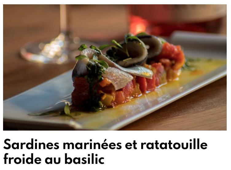 Sardines marinées et ratatouille