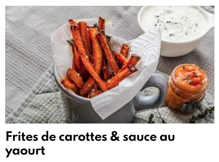 Frites de carottes & sauce au yaourt