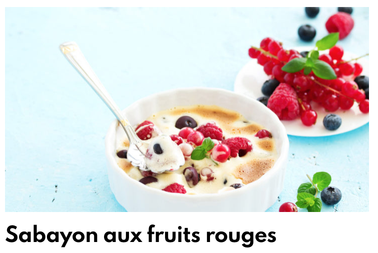 sABAYON fruits rouge