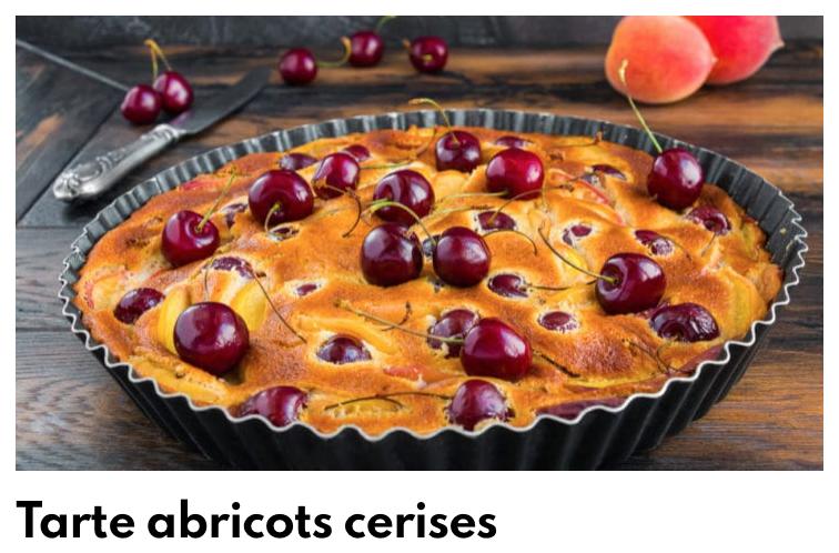 Tarte abricot cerises