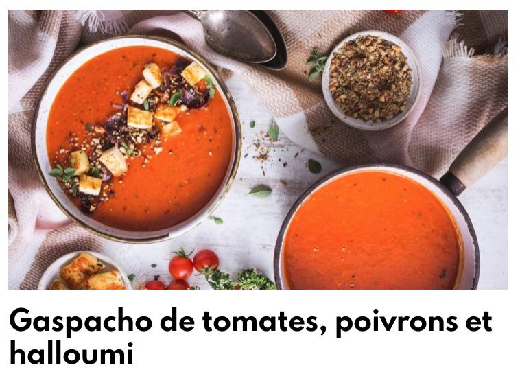 Gaspacho tomate poivrons