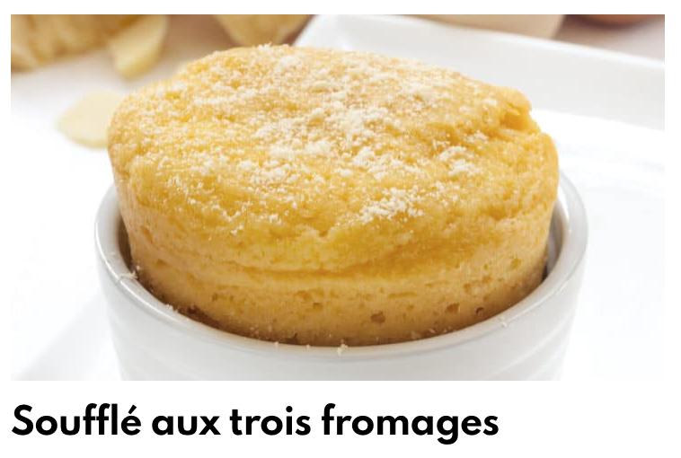 Soufflés aux trois fromages