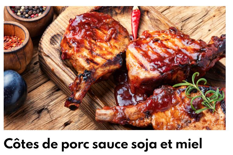 Côte de porc soja miel