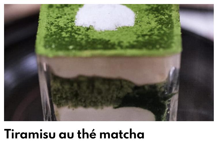 Tiramisu the matcha