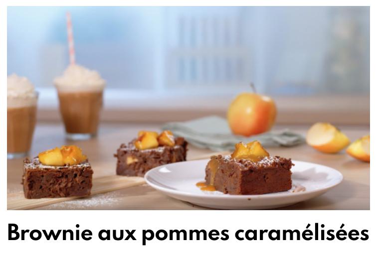 Brownie aux pommes