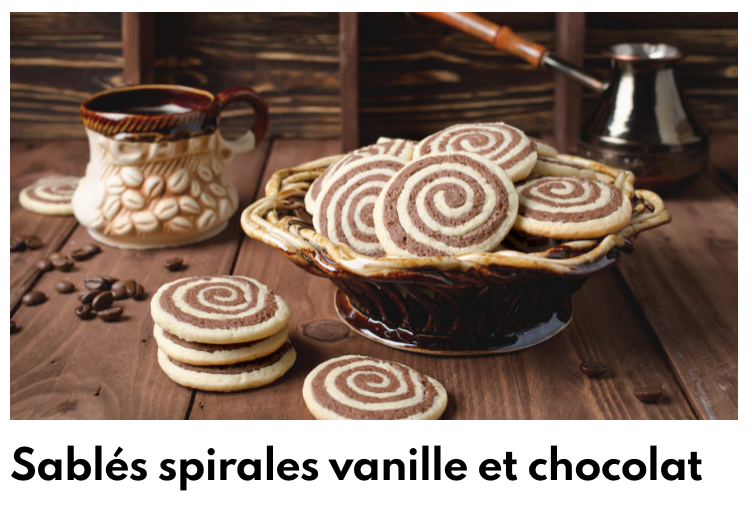Biscuits chocolat vanille spirales