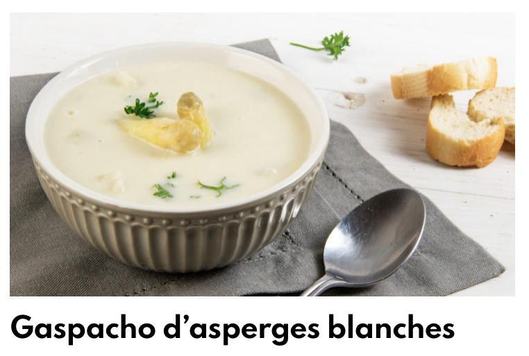 Gaspacho asperges blanches